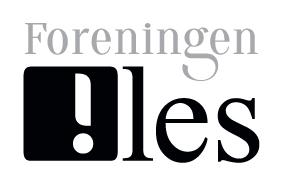 LOGO Foreningen !les SVART