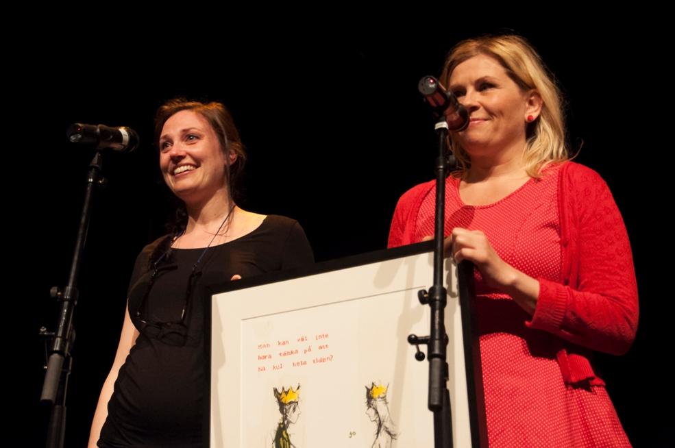 Vinnere av Uprisen 2013: Ellen Fjestad og Marianne Kaurin. Foto: Vibeke Røgler/Foreningen !les