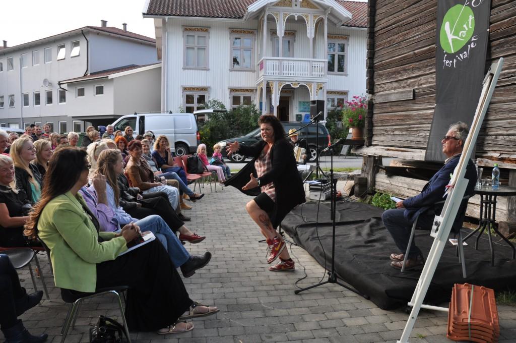 Vinneren: Inkri Abrahamsson hadde publikum i Gvarv i sin hule hånd