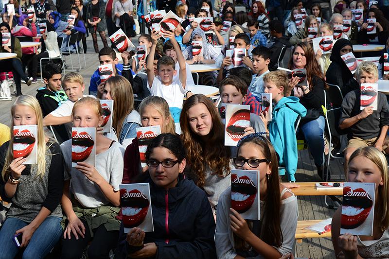 Ungdom kan miste lesesatsing som en konsekvens av kutt i kulturbudsjettet. Her fra lansering av tXt-aksjonen i høst. Foto: Vibeke Røgler/Foreningen !les.