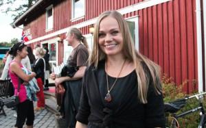 Mona Rød vant årets delfinale i NM i Poesislam. Foto:  Astrid Borchgrevink Lund