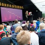 Lansering: Torsdag 17. september lanseres Bokslukerprisen 2016 i regi av Foreningen !les. Bildet er fra fjorårets lansering i Spikersuppa i Oslo. Foto: VIbeke Røgler/Foreningen !les.