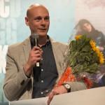 """Vinner: Alexander Løken er nylig utropt til historiens første vinner av Bokslukerprisen for boka """"Trollskallen""""."""