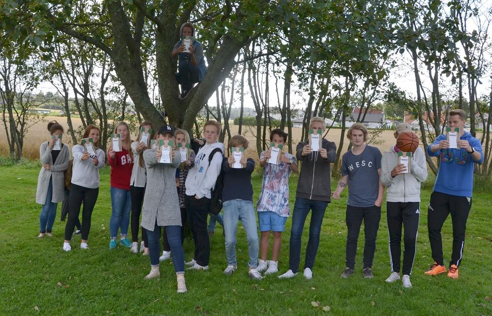 Litteraturfestival: Elever ved Borge ungdomsskole har hatt litteraturfestival hele uka med tXt-aksjonen som et viktig innhold. Foto: Tone Fredén.