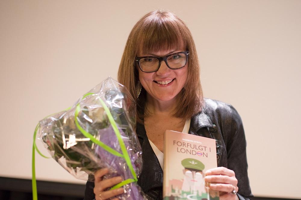 """Vinner: Ingeborg Dybvig vant i dag Bokslukerprisen for """"Forfulgt i London"""". Foto: Vibeke Røgler/Foreningen !les"""