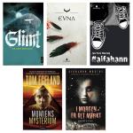 Nominert: Følgende bøker er nominert til Uprisen - årets ungdomsbok. Vinneren kåres under Litteraturfestivalen på Lillehammer torsdag 26. mai. Ill: Vibeke Røgler/Foreningen !les